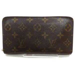 Auth Louis Vuitton Zippy Long Wallet #7920L17
